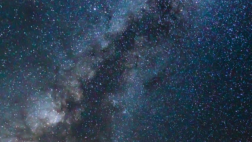 Time Tapse of Night Sky and Milky Way Galaxy