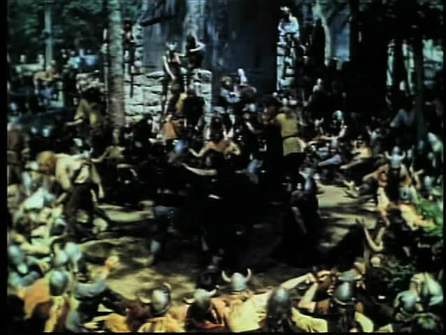 Vikings forcing captive women to dance with them