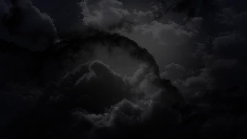 the cloudy dark sky animation