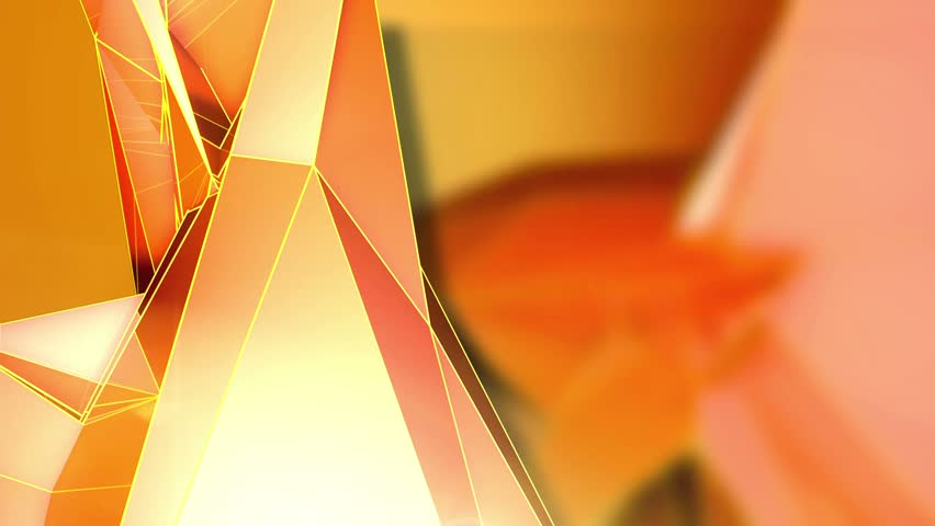 Abstract Background - Triangle - Orange - 9