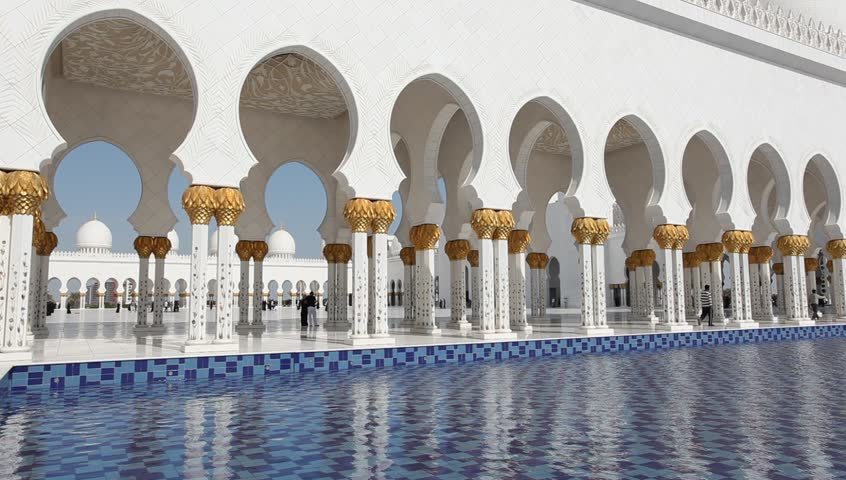Sheikh Zayed Grand Mosque in Abu Dhabi, UAE - HD stock video clip