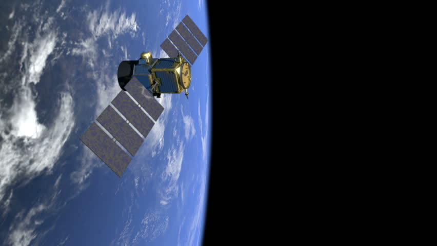 Satellite over earth