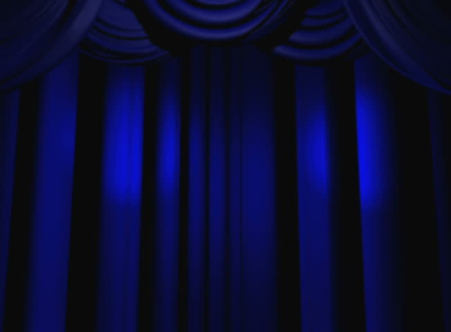 Blue Spotlights On Theater Curtains Stock Footage Video ...