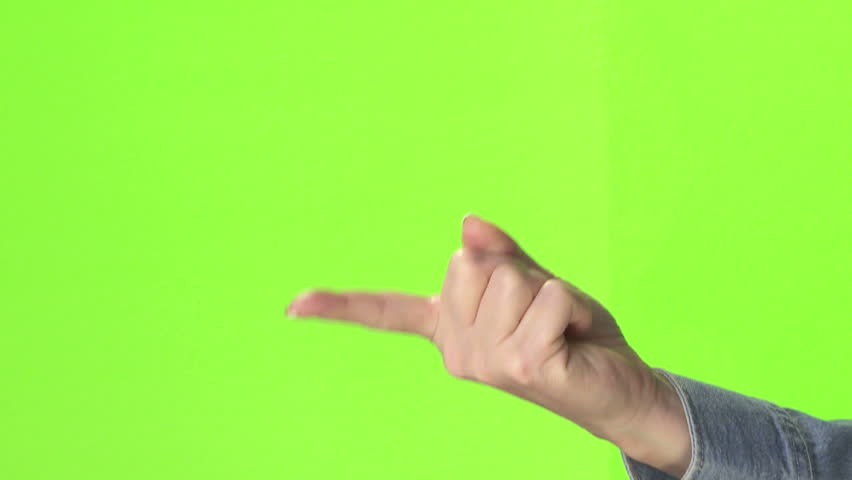 Come Here And Disapproval Finger Movements Stock Footage ...