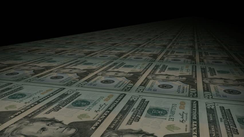 Printing dollar bill money