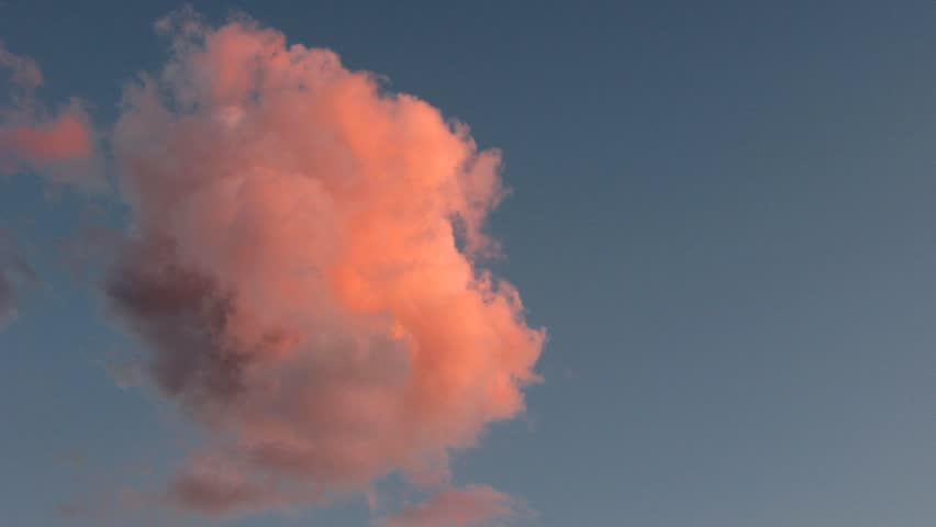 sunset cloud time lapse 2 - HD stock video clip