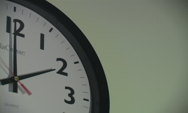 Clock moving fast - SD stock footage clip