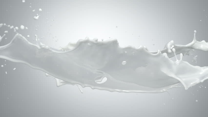 Milk splash in the air shooting with high speed camera, phantom flex.