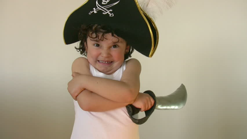 Little Pirate - HD stock footage clip