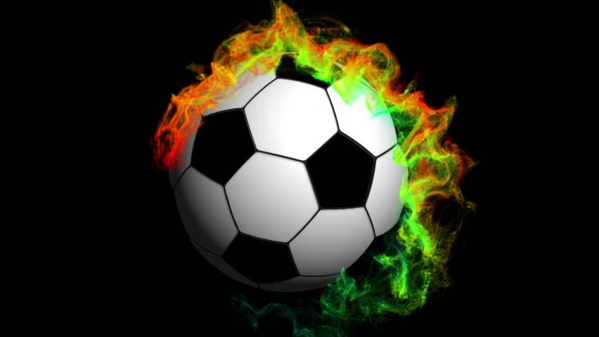 Soccer Ball in Particle with Alpha Channel - HD stock footage clip