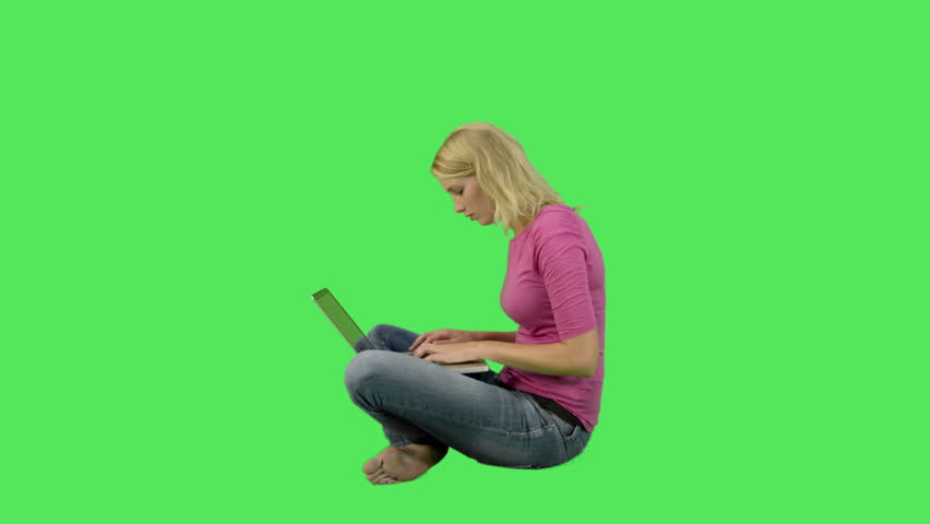 Female working on laptop - HD stock video clip