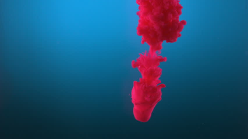 Pink ink in water shooting with high speed camera, phantom flex. - HD stock video clip