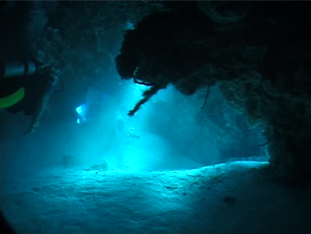 Ocean Scenery At Rest Underwater In Mexico Stock Footage ...