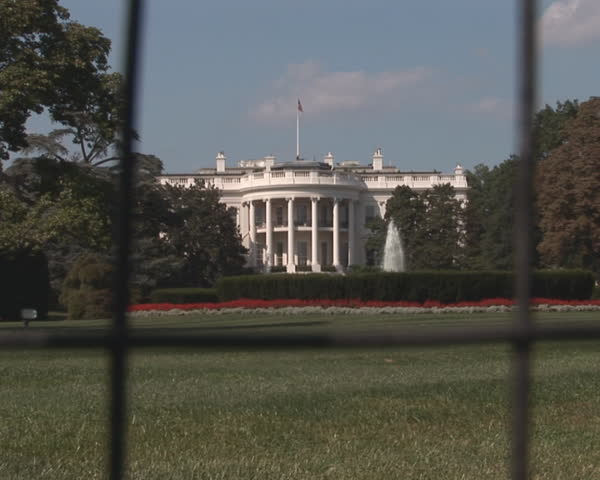 PAL: White House - rotunda side - SD stock footage clip