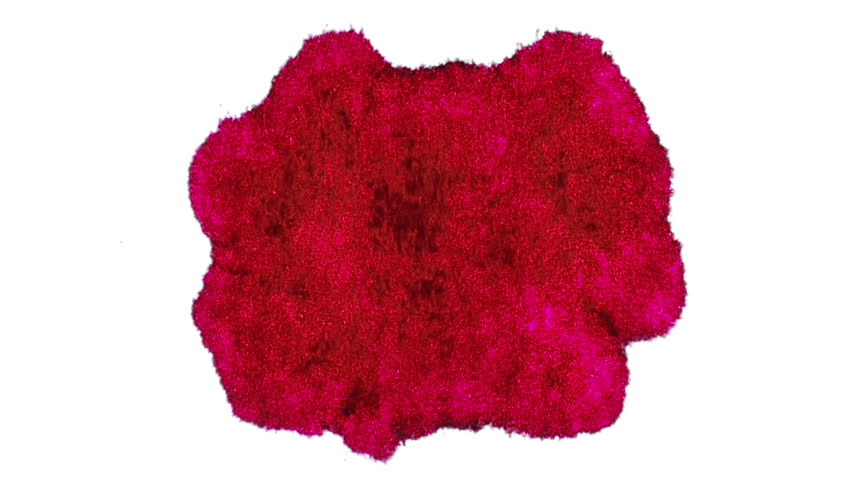 Red Ink Stain Expansion (HD). Red Ink Expands over time lapse on a white fiber surface.
