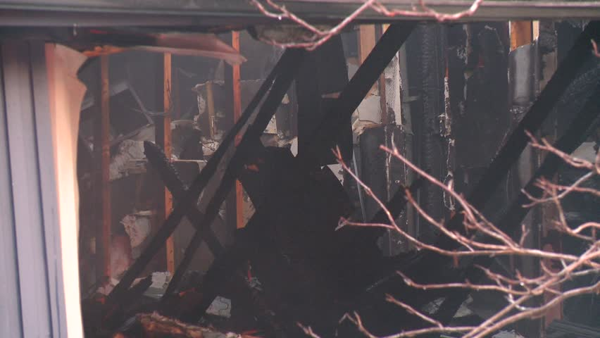Calgary, Alberta, Canada, ca.2010, natural gas explosion destroys home, no injuries, Fire scene destroyed home tight