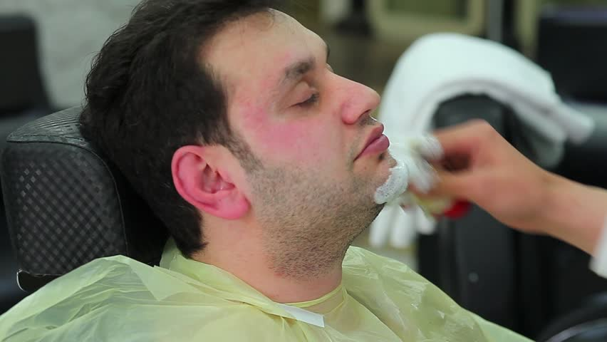 barbershop shave beard 2 - HD stock footage clip