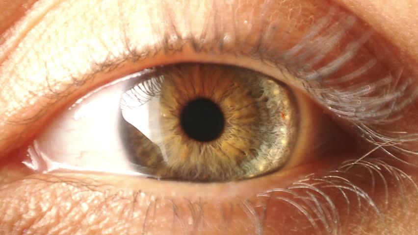 Eye iris contracting