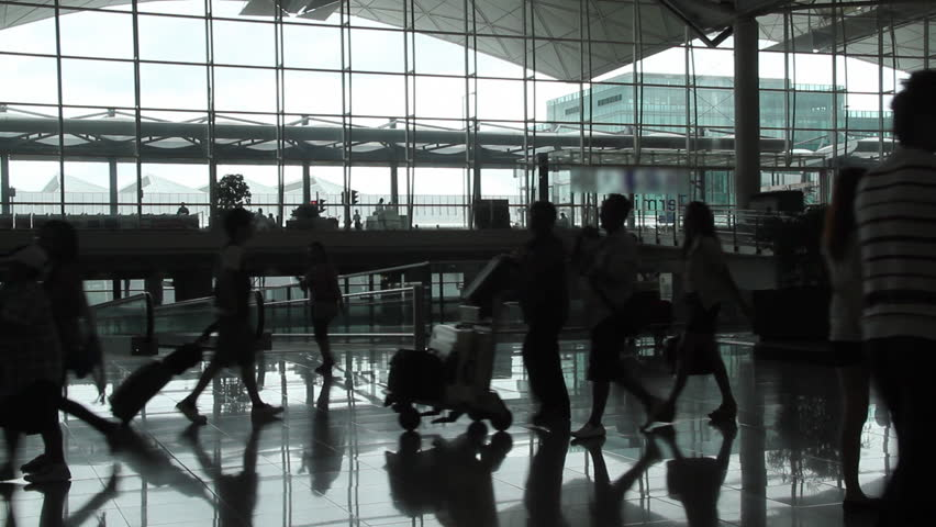 Airport passenger - Hong Kong International Airport.