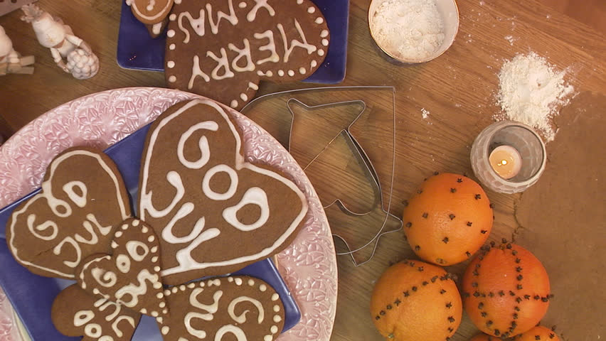 Making gingerbread biscuit
