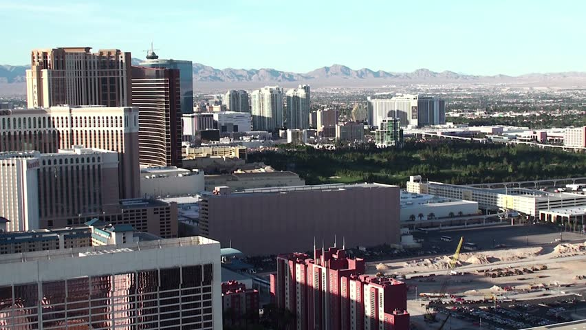 Outskirts of Las Vegas. Bird's-eye view. - HD stock footage clip