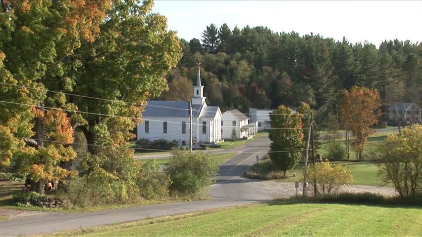 Wide View Of The Capitol Building In Vermont Nestled In