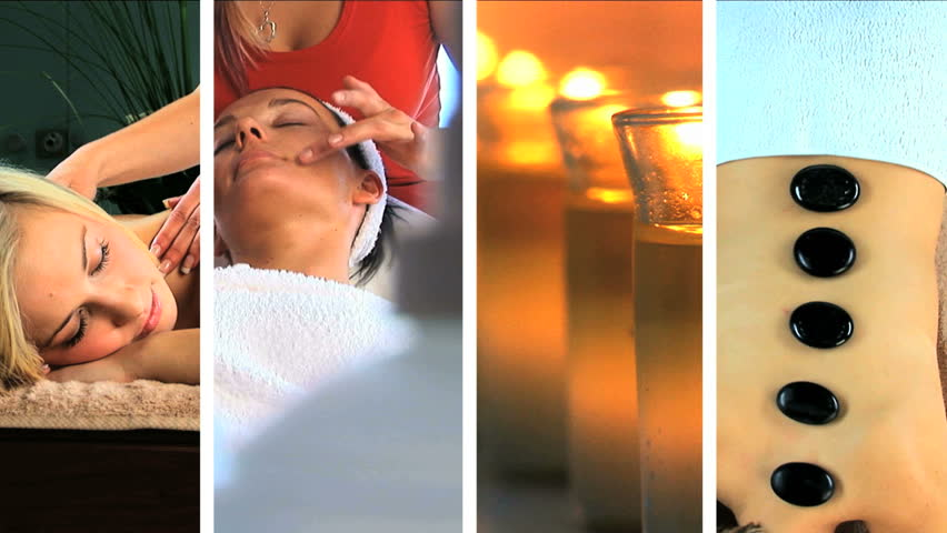 Images of luxury spa treatments  - HD stock video clip