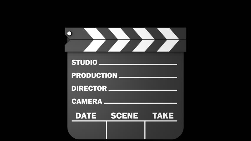 Movie slate with an embedded alpha channel.