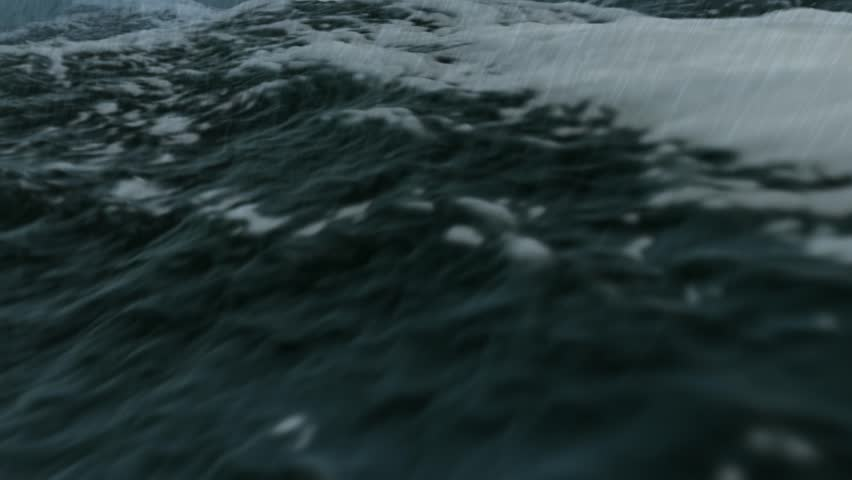 Ocean storm close in Full HD - HD stock footage clip