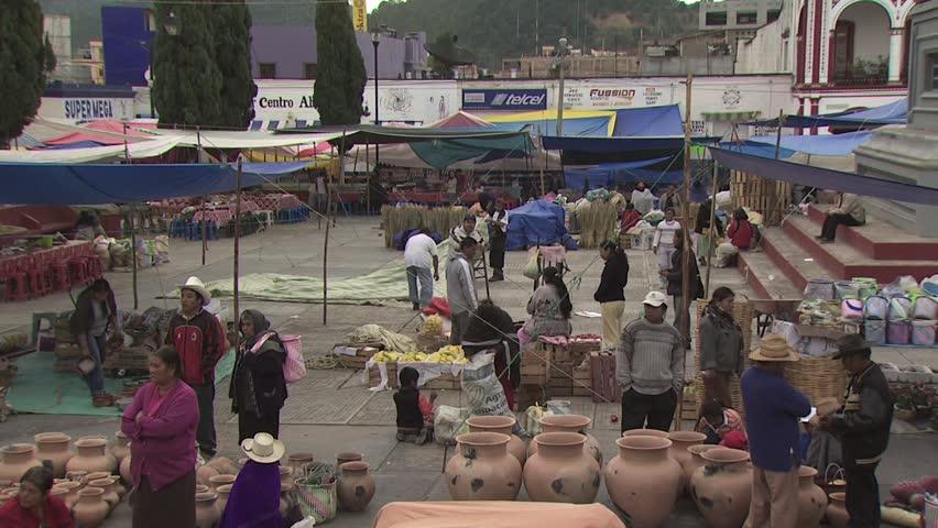 MEXICO CITY - CIRCA 2010: View of Open Air Market in Mexico 2