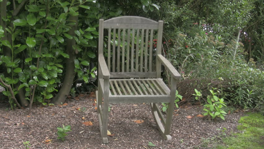 Ghost on a rocking chair stock footage video