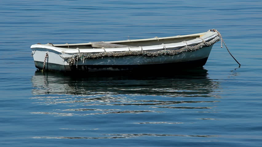 Old Fishing Boat Description: Old Wooden Fishing Boat On The Calm Sea. Stock Footage Video ...