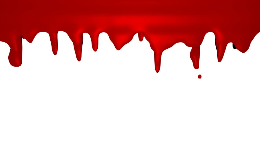 Red paint dripping down over white
