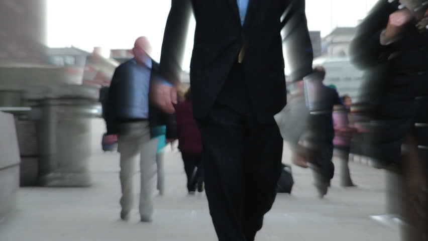 people in street timelapse business people in london  rush hour - HD stock footage clip