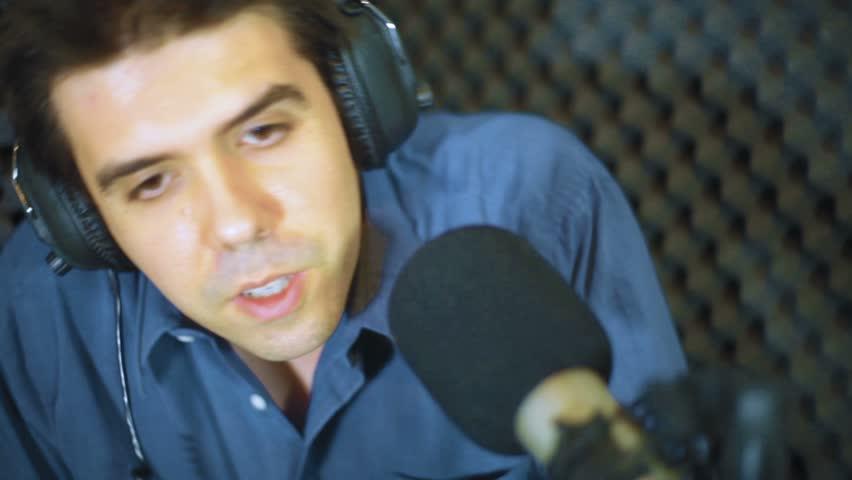 Recording Studio - HD stock footage clip