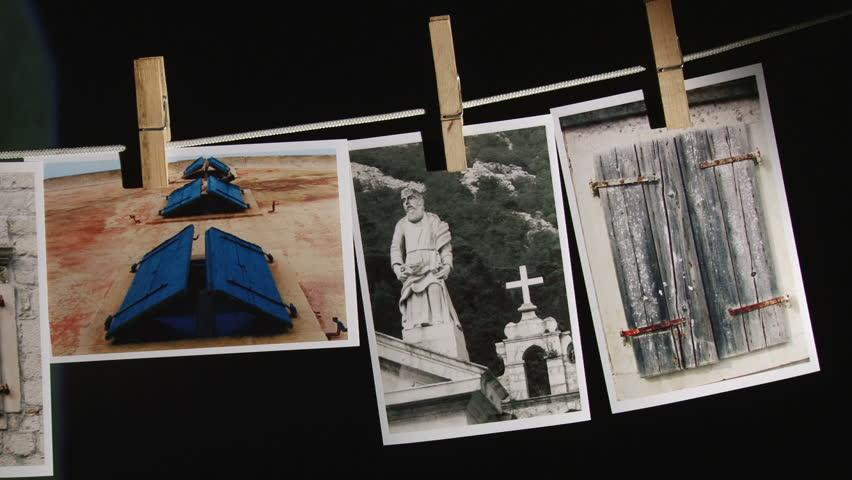 Photograph, artistic photos in dark room - pan left