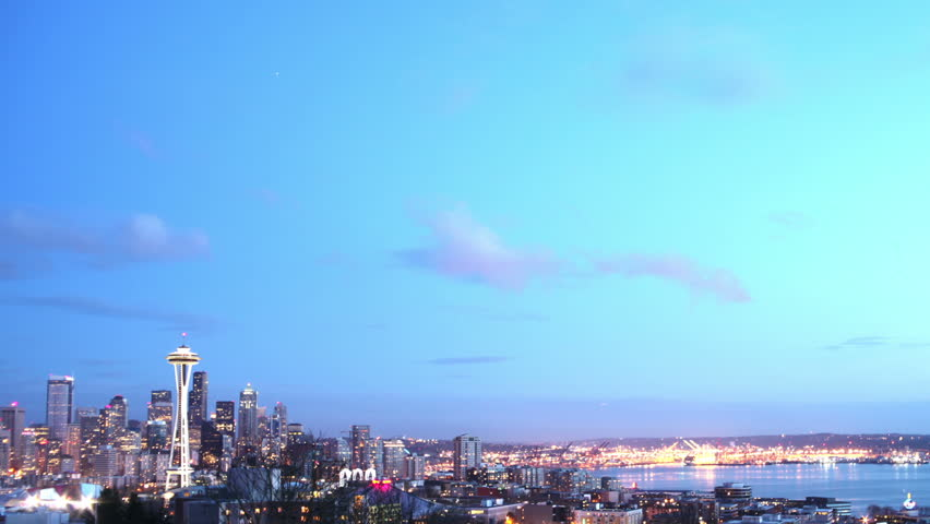 HD Seattle Day/Night Transition Time Lapse