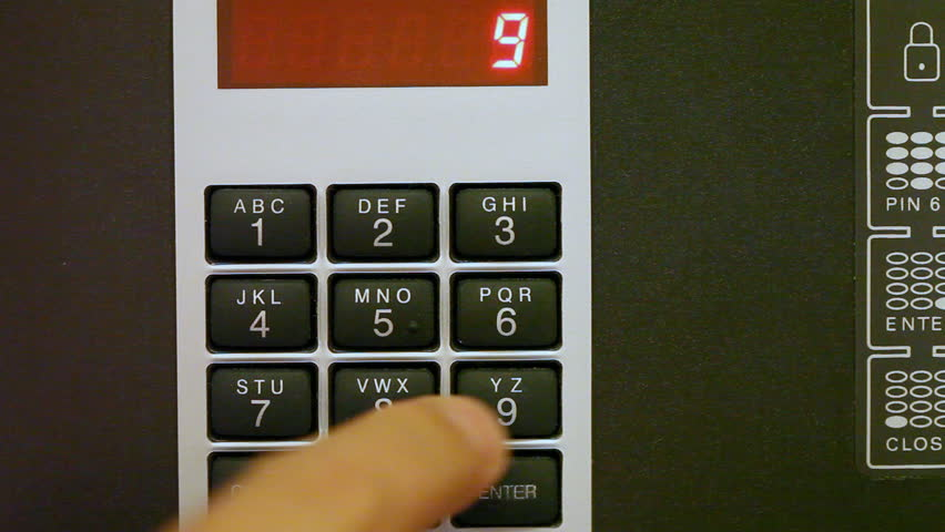 how to open a keypad safe