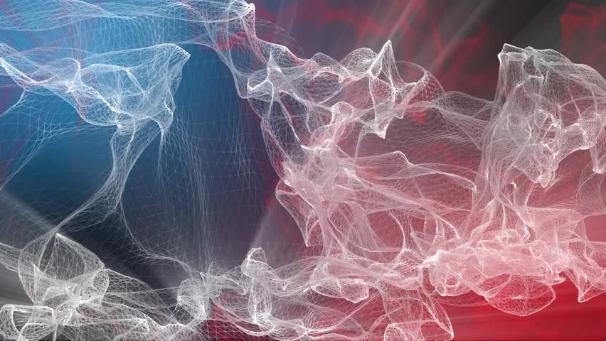 Abstract Element and Background - Particle Animation - 1 - Blue and Red