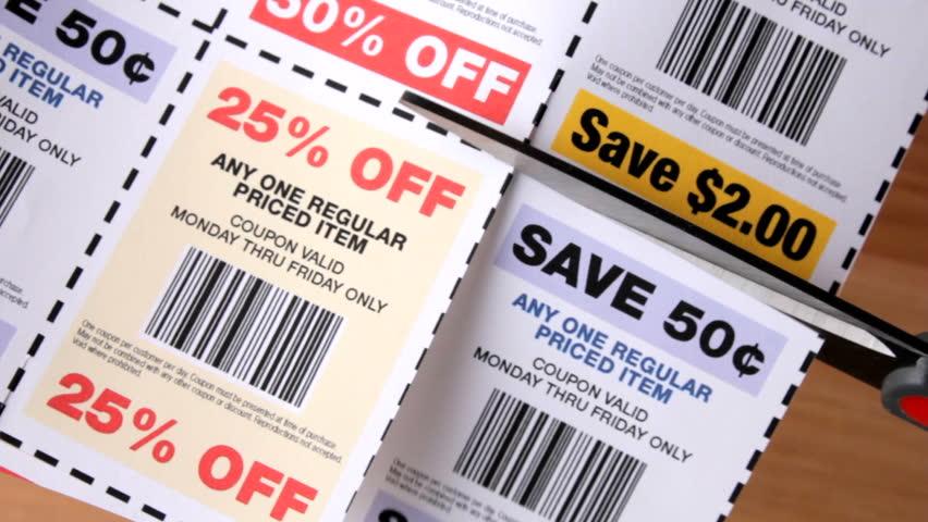 Cutting savings coupons