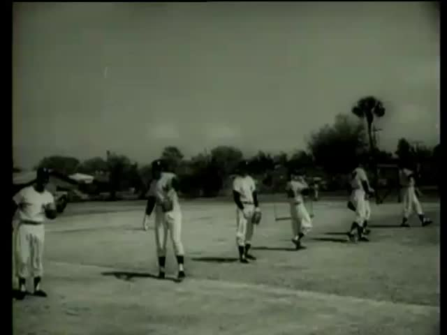 Several New York Yankees baseball players of different teams practice pitching in Florida circa 1958-MGM PICTURES, UNIVERSAL-INTERNATIONAL NEWSREEL, USA, filmed in 1958  - SD stock video clip