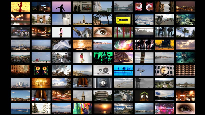 digital animation of hd screens, all content self created - HD stock video clip