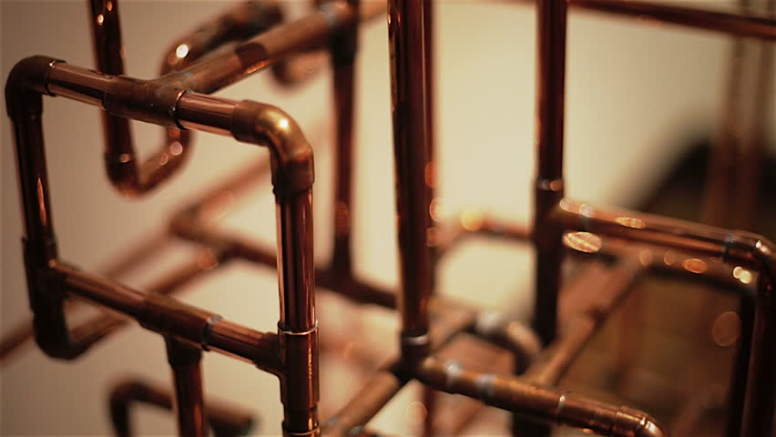 Copper pipe structure stock footage video 2915362 for Copper pipe vs pvc