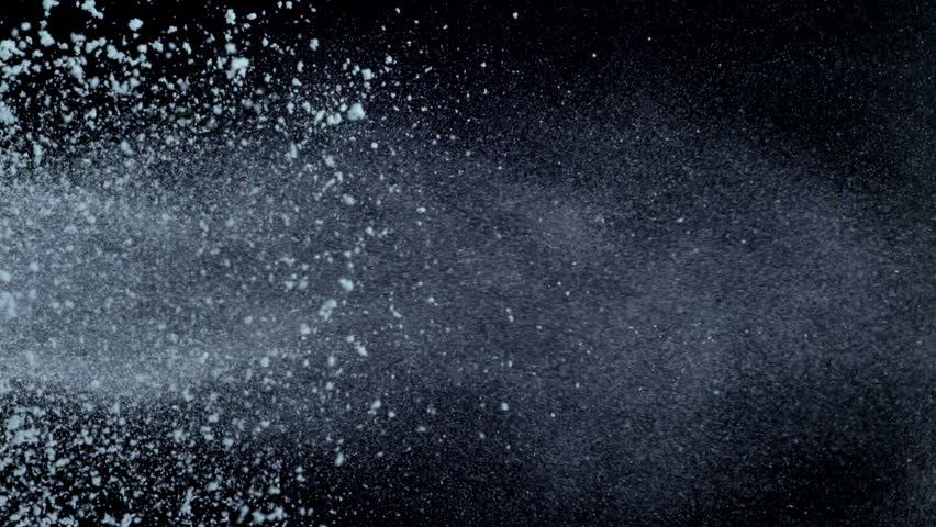 Flour explosion shooting with high speed camera, phantom flex.