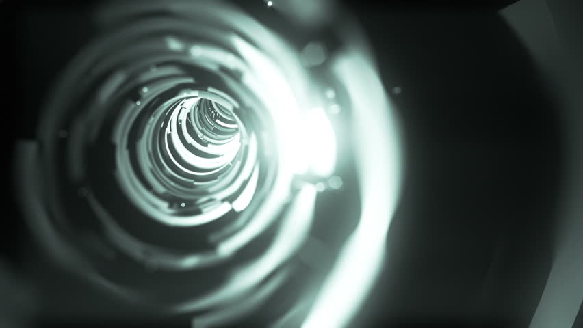 Wormhole though time and space, flashy high tech style.  Travel though this sparkling high tech wormhole at warp speed! - HD stock video clip