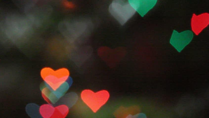 Bokeh Heart Shape Of Light Background Stock Footage Video: Heart Neon Lights. Stock Footage Video 2154911