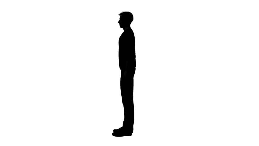 Silhouette Of Man Walking Stock Footage Video 3005113 ...