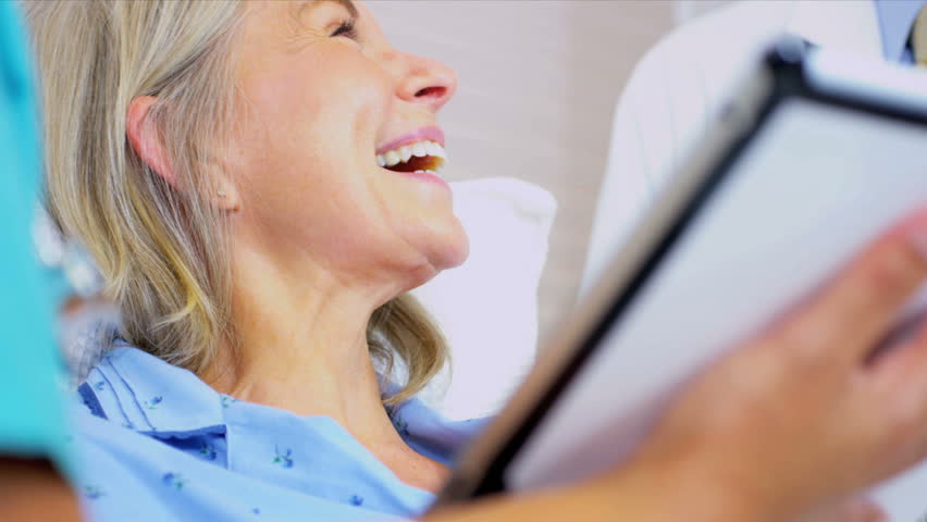 Senior Patient Care Being Recorded Wireless Tablet - HD stock video clip