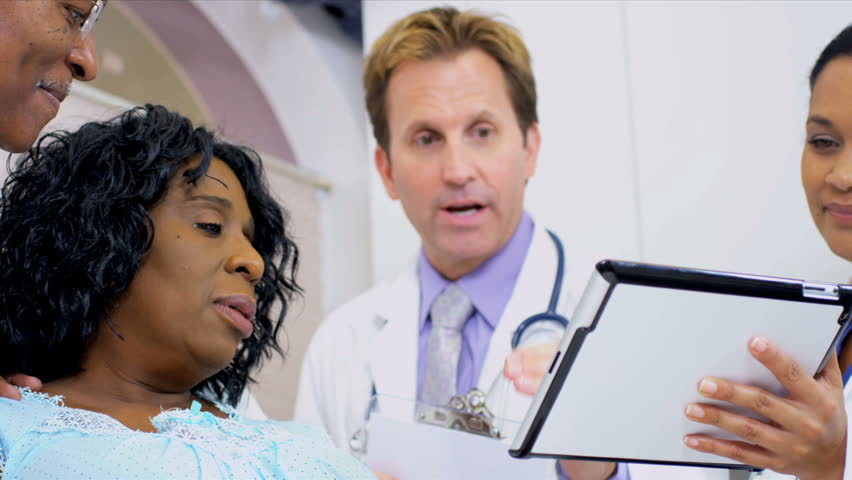Patient Care Being Recorded Wireless Tablet - HD stock video clip