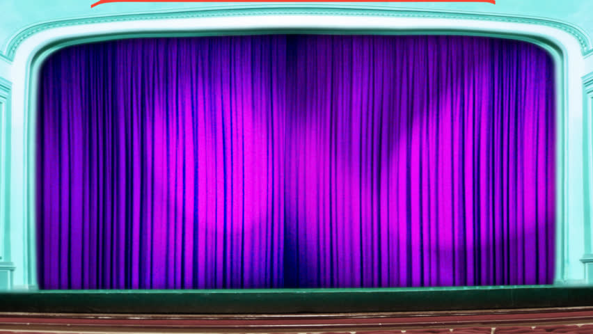 Stage curtain theater curtain stock video
